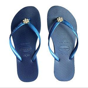 🎃 Havaianas slim crystal flower Size: 35/36